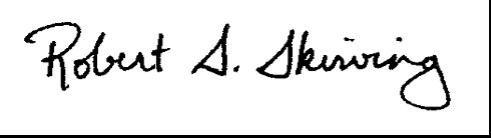 Robert S. Skirving Signature